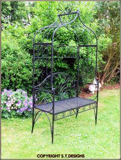Black Garden Seat With Arch, £144.99