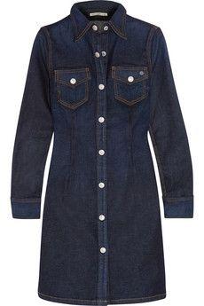 Alexa Chung For AG Jeans Pixie kurzes Hemdblusenkleid aus Denim | NET-A-PORTER