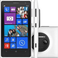Nokia Lumia 1020 Smartphone Desbloqueado Branco 4G Wi - Fi Tela 4,5 ´ Windows Phone 8 Memória Interna 32GB Câmera 41MP Bluetooth e GPS