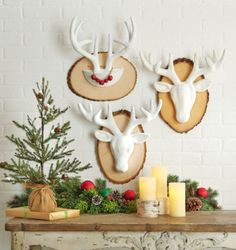 DIY Mounted and Glittered Reindeer Head