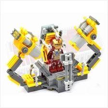 Suit Up Gantry - Iron Man Minifigure Figure (LEGO Compatible, Avenger)