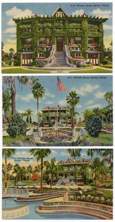 Fla Florida BARTOW Conrad Schuck's WONDER HOUSE c1941 Linen Postcards Lot of 3 | eBay