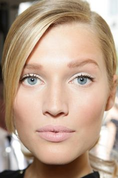 Toni Garrn - so simple Lorraine Amico can do everyone thinks simple is easy its not but it is beautiful I am the makeup artist luv you all makeup comes in all sizes and shapes and creations thats what makes it so specials