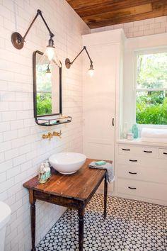 fixer upper beanstalk bungalow bathroom - Google Search