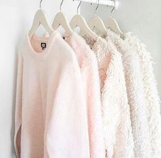 light pink sweaters