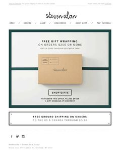 Steven Alan - we've got you covered : our gift picks + free gift wrap