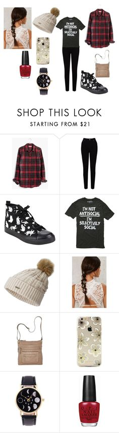 """Untitled #634"" by jettcc on Polyvore featuring Madewell, EAST, SOREL, Bueno, Sonix and OPI"