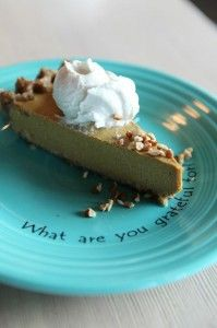 Cafe Gratitude Recipes - pumpkin pie