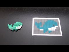 How to Make a Cute Perler Bead Whale - YouTube