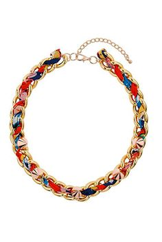 Tropical Stud Wrap Collar #topshop #chain #colours #bright #summer #love #necklace #jewellery #pin