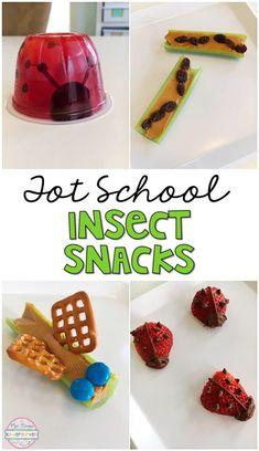 Kindergarten Snacks, Classroom Snacks, Preschool Snacks, Preschool Printables, Preschool Planner, Preschool Schedule, Toddler Schedule, Classroom Ideas, Bug Snacks