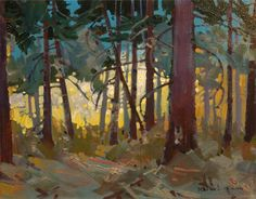 """September 2, 2014 letter, AN ARTIST'S MIND,  """"My friend Joe Blodgett said, """"There's two ways to walk this path--one for the path and one for the spirit...""""  (image: """"Forest Spirit"""", acrylic painting by Robert Genn painted on location while filming the video in 2007)"""
