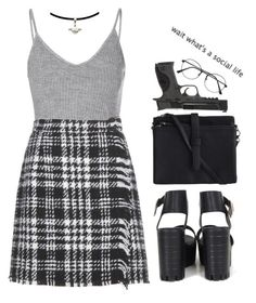 """""""#72"""" by fionita ❤ liked on Polyvore featuring Glamorous, Dolce&Gabbana, Pieces, Smith & Wesson, black, skirt and Boots"""