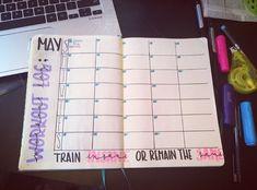 Bullet journal workout log