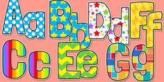 Funky Patterned Display Letters and Numbers Pack 1