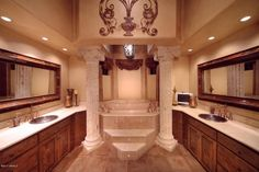 How a His and Hers bathroom should be done | fabuloushomeblog.comfabuloushomeblog.com