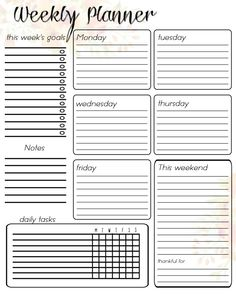 – Londage At Home Free Printable Weekly Planner! – Londage At Home Get more photo about subject related with by looking…