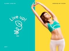 Live Up Girl designed by Lena Anikeeva. Connect with them on Dribbble; Social Media Ad, Social Media Branding, Social Media Design, Ad Design, Branding Design, Branding Ideas, Workout Posters, Fitness Brand, Ads Creative