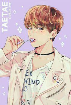 Kim Taehyung Fan art es muy hermoso!
