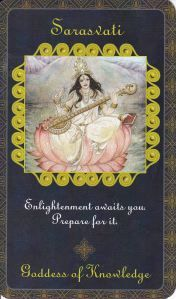 Saraswati in Goddess Inspiration Oracle by Kris Waldherr