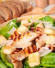 Garlicky chicken Caesar (Gluten Free)