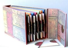 Great tutorial to make an accordian book! by anita(: craft, pocket books, paper, tutorial, mini albums, card, mini books, blog, envelop