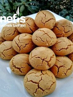 Tahini, Pasta Cake, Sweet Pastries, Biscuit Cookies, Desert Recipes, Easy Desserts, Food Art, Biscotti, Cookie Recipes