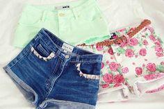 Mint, jean, & floral <3