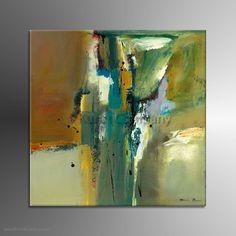 Schilderij Abstract in Green II