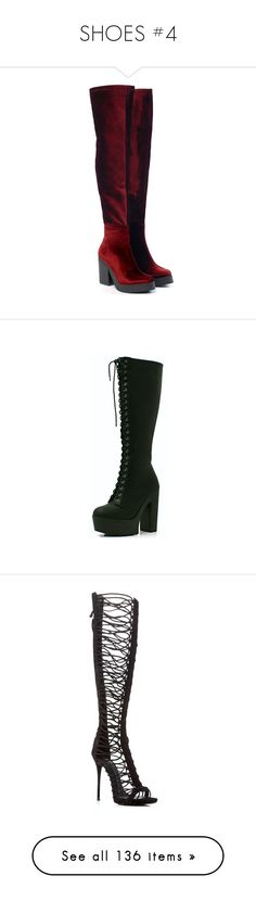 """""""SHOES #4"""" by joanneaegyo ❤ liked on Polyvore featuring shoes, boots, gothic boots, sparkly shoes, heart shoes, gothic shoes, goth boots, lace up boots, black boots and lace up high heel boots"""
