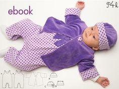 Ebook Baby Jacke Strampler und Mütze als Set / Sparpaket. Mit Foto Anleitung! Schnitt, Ebook, Download, einfach zu nähen, Baby Wickeljacke von pattern4kids auf Etsy