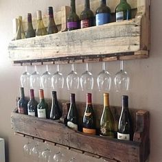 Buy Reclaimed wine rack- stacked by (del)HutsonDesigns on Dot & Bo - DIY Möbel Pallet Dining Table, Diy Outdoor Table, Diy Coffee Table, Pallet Lounge, Diy Pallet Sofa, Diy Pallet Projects, Pallet Ideas, Wood Projects, Crate Ideas
