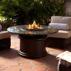 Add a tropical twist to your backyard with this fire table. The Del Mar Chat Height Firepit Table will be sure to spark up conversation when you entertain! You won't find a more attractive or versatile patio furnishing with all the options you have. Spark Up, Outdoor Living, Outdoor Decor, Outdoor Furniture, Fire Pit Table, Backyard, Patio, Fire Pits, Fireplaces
