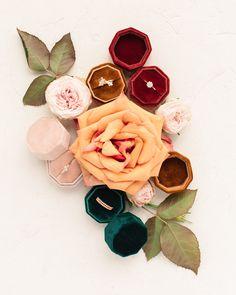 Velvet Engagement Ring Box || Vintage Proposal Ring Box
