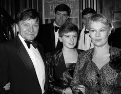 judy dench house in surrey | Michael Williams with his wife Judy Dench and their daughter,Finty,at ...