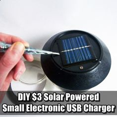 DIY $3 Solar Powered Small Electronic USB Charger made with a garden light