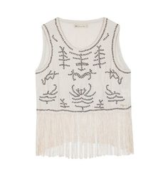 Fringed top with handmade embellishment Tank Tops, Handmade, Collection, Women, Fashion, Halter Tops, Hand Made, Moda, Women's