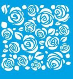 Stencil de Rosas 17 x 21cm - STM 018 - Stencil 17 x 21cm - Stencil ou molde vazado - Empório Janial
