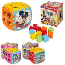 Kids Puzzle Shape Sorter Cube Toy Baby Toddler Educational Learning Blocks New