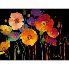 Living Life to the Full ~ Simon Bull flower poppy floral artwork painting art Action Painting, Painting & Drawing, Arte Floral, Watercolor Flowers, Poppies Painting, Painting Inspiration, Color Inspiration, Flower Art, Amazing Art