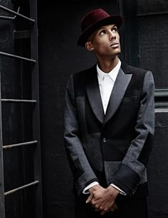 Stromae, Flaunt, July 1, 2015. Skinny men are sexy.