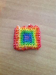 Cool square Rainbow Loom bracelet
