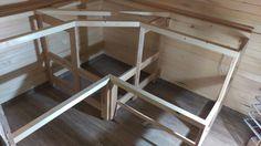 Sauna bench frame Swedish Sauna, Finnish Sauna, Mobile Sauna, Building A Sauna, Outdoor Sauna, Sauna Design, Steam Showers Bathroom, Built In Bench, Bathroom Layout