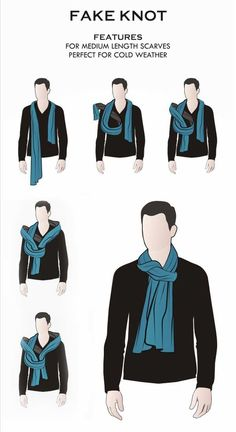 11 male styles to wear men's scarves- 11 männliche Arten, Männer-Schals zu tragen Wrong knot: Suitable for medium length scarves and is perfect in cold weather. Big Men Fashion, Suit Fashion, Daily Fashion, Mens Style Guide, Men Style Tips, Fashion Infographic, Mode Man, Mode Costume, Fashion Vocabulary