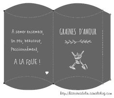 Boite Graines d'Amour - Seeds of Love Box Little Presents, Little Gifts, Creative Gift Wrapping, Creative Gifts, Diy Paper, Paper Crafts, White Lace Nails, Free Boxes, Diy Origami
