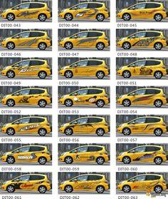yellow car design car body sticker