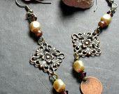 Copper Dangle Earrings :)