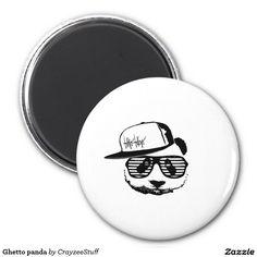 Ghetto panda 2 inch round magnet