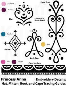 Frozens Princess Anna Tracing Guide: Various Items by MomoKurumi
