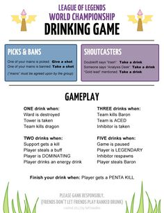League of Legends Worlds Drinking Game - Imgur